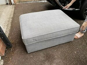 IKEA KIVIK fabric Grey large Footstool + Storage