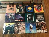 Metal 12 LP Rough Lot - ACDC, Def Leppard, Judas Priest, Kiss, Rainbow Scorpions