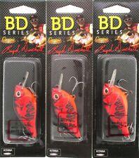 (3) CASTAIC BOYD DUCKETT BD SERIES CRANKBAITS BDC1.5 Red Craw