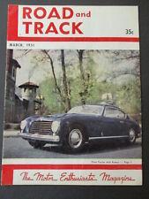 Vintage Road & Track Magazine March 1951