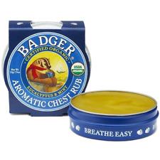 Badger Balm 21g Organic Aromatic Chest Rub Soothing Organic Balm Eccalyptus Mint