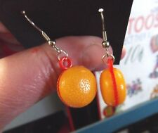 Funky Hamburger EARRINGS Fun Food Kawaii Retro Vending Charms Costume Jewelry
