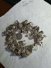 925 Silver Vintage Charm Bracelet with 44  Lovely Charms