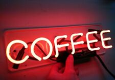 Coffee Cafe Open Neon Sign Acrylic Glass Decor Light Lamp Artwork With Dimmer