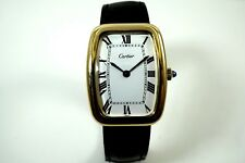 CARTIER SQUARE INCURVEE 18K YELLOW GOLD RECTANGLE SHAPED CASE CIRCA 1970'S