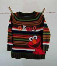 Nannette Sesame Street Elmo Striped Sweater 3T