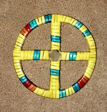 Native American Lakota Sioux Quilled Medicine Wheel.