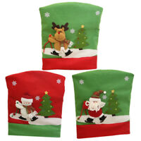 6 Pieces Christmas Dining Chair Back Cover Home Party Xmas Decoration Gifts