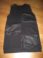 LADIES CUTE BLACK  POLYCOTTON SLEEVELESS SHIFT DRESS BY TINA KALIVAS SIZE 12
