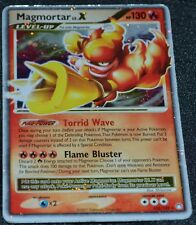Holo Foil Magmortar LV. X 123/123 D&P Mysterious Treasures Set Pokemon Cards HP
