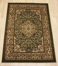 Persian oriental green cream floral silky small medium extra large rug160x230cm