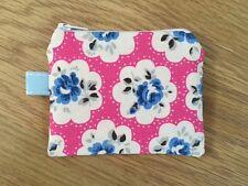 Mini Coin Purse (11x9cm)  - Cath Kidston Electric Pink Provence Rose Fabric