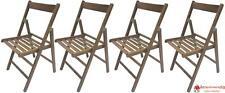 4 sedie pieghevole sedia birreria in legno noce marrone richiudibile per campegg