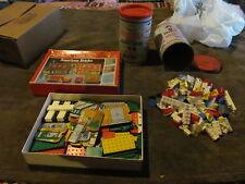 Nice Lot Of Vintage American Bricks - Sesame Street Set & 2 Canisters & Bricks