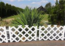 Plastic Garden Fence Panels Boarder Lawn Palisade Edge Patio Fencing WHITE PJPOB