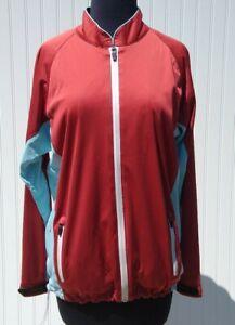 Sun Mountain Womens Medium Rainflex RFX Golf Jacket Full Zip Waterproof Red