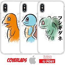 iPhone Silicone Cover Anime Pokemon Beginner Starter White Cute - Customlads