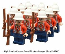 10 Minifigure British Empire Army - LEGO Soldiers Troops English Zulu