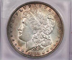 1893-O 1893 Morgan Silver Dollar S$1 ICG AU58 Sweet coin a real beauty!