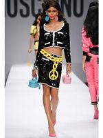 SS15 $1395 Moschino Couture X Jeremy Scott LEATHER Pink Make Up Handbag