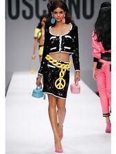SS15 $1395 Moschino Couture X Jeremy Scott LEATHER Light Blue Make Up Handbag