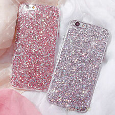Bling Glitter suave TPU Silicona carcasa funda por iPhone 7 6S 6 8 Plus x 10 ten