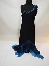 Black & blue long party dress gown size M-L free shipping