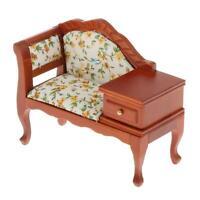 Puppenhaus miniatur möbel 1/12 holz sofa lounge couch settee mit schublade
