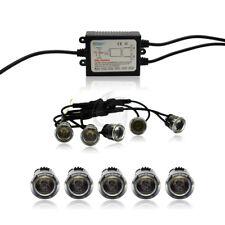 10 LED FLEX Tagfahrlicht 24 Volt Tagfahrleuchten rund 20mm Xenon TFL DRL weiß
