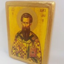 Saint Basil Vasili Basile San Basilio Byzantine Greek Orthodox Rare Icon Art