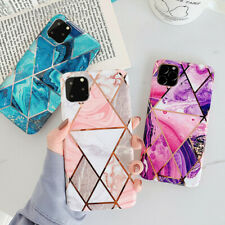 Silicone Geometric Marble Case for iPhone 11 Pro MAX  8 7 Plus Shockproof Cover