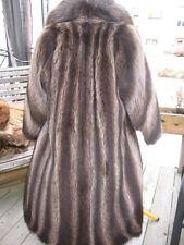 #W50 super GOT TO HAVE IT WOMEN  RACCOON FUR COAT BROWN SIZE 11/12