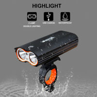 2400 Lumens Bike Front Light BICYCLE USB Rechargeable Super Bright LED Headlight