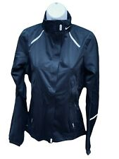 NIKE Women's Storm Fly Reflective Rain Jacket with Temperature Control Black S