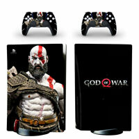 God of War Vinyl Skin Decal Sticker for PS5 Console & 2 Controllers Disc Version
