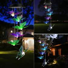 Solar Powered Retro Wind Chimes Led Light Color Changing Outdoor Garden Decor