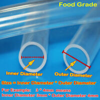 1M Milk Beer Food Grade Clear Silicone Tube Translucent Hose Pipe Soft Rubber