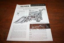 Oliver Row Crop Header for Self-Propelled Combines Brochure 2 Row Corn 1958!