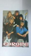 Europe Sweden Joey Tempest vintage group artist music postcard POST CARD 3