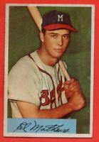 1954 Bowman #64 Eddie Mathews EX-EXMINT MARK Milwaukee Braves HOF FREE SHIPPING