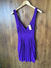 JERSEY SHIFT DRESS Dark Purple UK 12 / EUR 40 - NEW