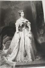 REINE VICTORIA ANGLETERRE UK GRAVURE 1838 VERSAILLES R1895 PRINT