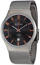 Skagen Men's Quartz Grey Titanium Case Stainless Steel Mesh Watch 233XLTTMO