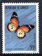 TIMBRE REPUBLIQUE DE DJIBOUTI N° 518 ** FAUNE PAPILLON