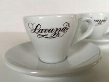 Lavazza Demitasse Espresso Cups & Saucers White Porcelain Ceramic Italy Ginori