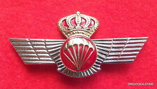 Spain Spanish,Airborne Jump Jumper Para Wings,Parachute Skydiving Pin,Gold Crown