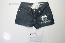 Levis Short Customized (cod. WB70) jeans Tg.42 W28 DONNA Low Waist Remake