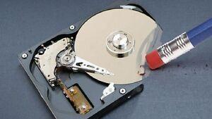 Secure Hard Drive Erasing Service - Secure Data Destruction