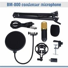 BM800 Pro Condenser Microphone Kit Studio Audio Recording Arm Stand Shock Mount