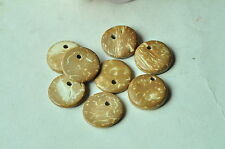 40pcs Round Coconut Shell Bead Natural Coco Wood Wooden Side Hole Brown Finished